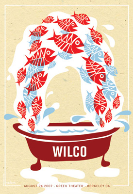 Wilco poster by Dan Stiles