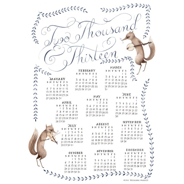 Julianna Swaney Calendar | Fox & Bire
