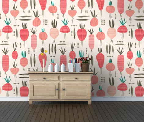 """Roots & Pods"" Wallpaper by Elizabeth Olwen 