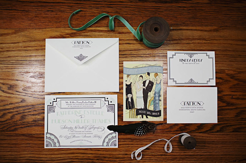 Gatsby-Inspired Wedding | via Fox & Brie