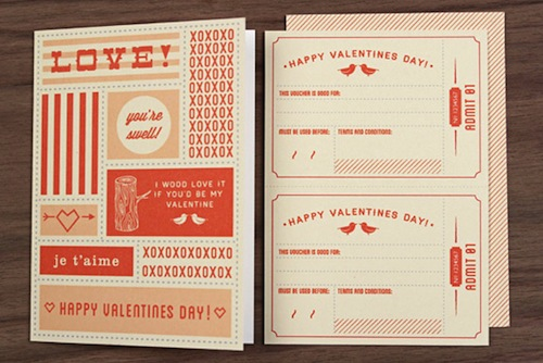 Love vs Design Printable Valentines | via Fox & Brie