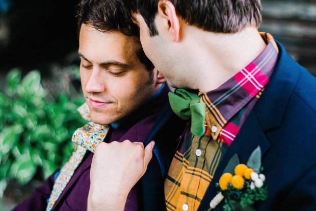 Eric & Danny's Mountain Wedding via Fox & Brie