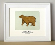 Black Bear Print by Quail Lane Press | Friday Favorites via Fox & Brie