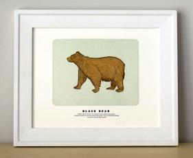 Black Bear Print by Quail Lane Press | Friday Favorites via Fox & Brie