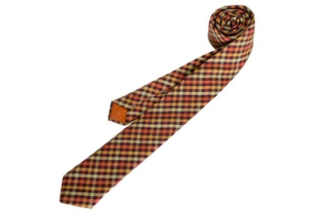Garnet Check Necktie | Fox & Brie for One Kings Lane