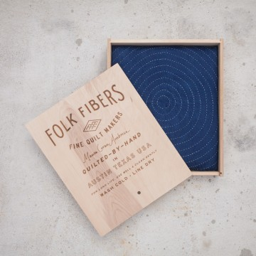 Folk Fibers Indigo Quilt | Friday Favorites via Fox & Brie