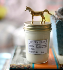Horse Candle by Let's Put a Bird On It | Friday Favorites via Fox & Brie