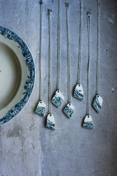 Ceramic Necklace by French Attic Finds | Friday Favorites via Fox & Brie