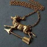 Deer Weathervane Necklace by Larissa Loden | Friday Favorites via Fox & Brie