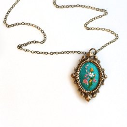 Hand-Embroidered Necklace by Poppy and Fern | Friday Favorites via Fox & Brie