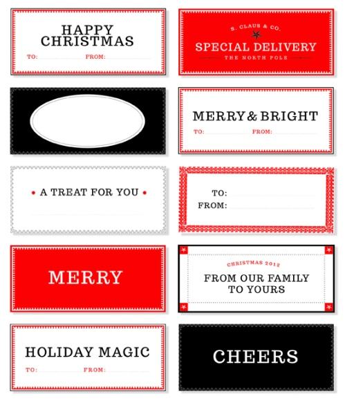 Christmas Gift Tags from Design Editor | via Fox & Brie