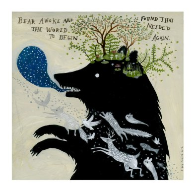 Bear Spirit Painting by Diana Sudyka | Friday Favorites via Fox & Brie