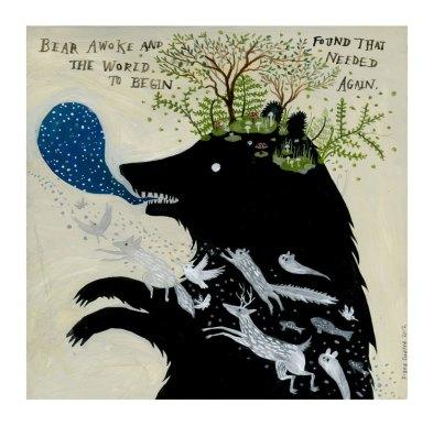 Bear Spirit Painting by Diana Sudyka | Friday Favorites via Fox & Brie