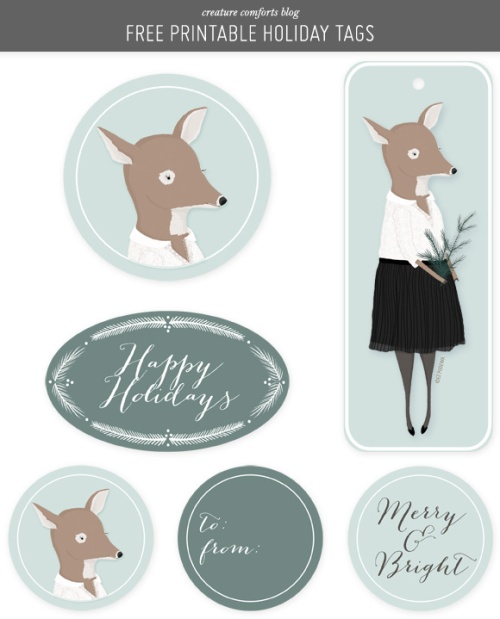 Gift Tags by Creature Comforts | via Fox & Brie