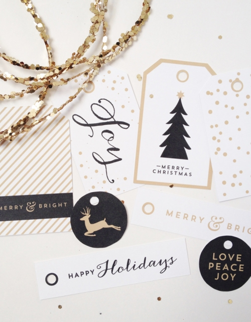 Free Printable Holiday Tags by Creative Index | via Fox & Brie