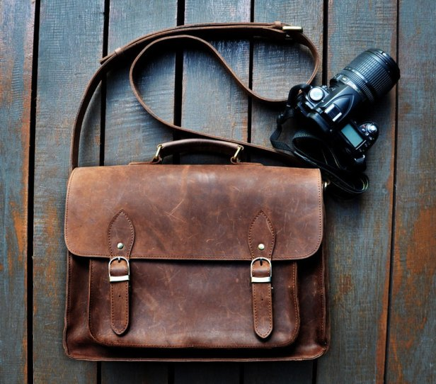 Leather Camera Bag by christudio | Friday Favorites via Fox & Brie