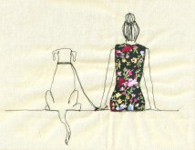Sarah Walton Embroidered Illustration | via Fox & Brie