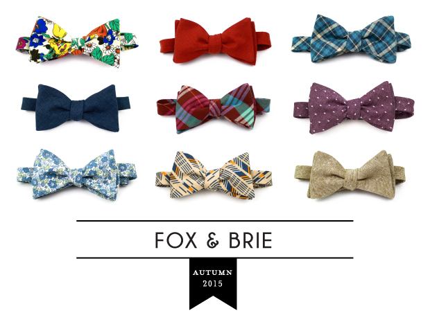 Fox & Brie 2015 Fall/Winter Bow Ties
