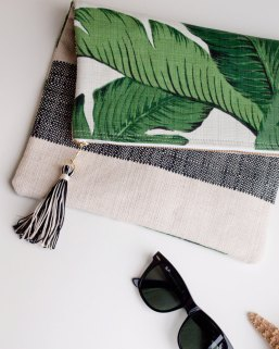 Banana Leaf Foldover Clutch by Chapman at Sea | via Fox & Brie