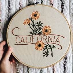 California Embroidered Hood by Foxes & Rabbits | via Fox & Brie