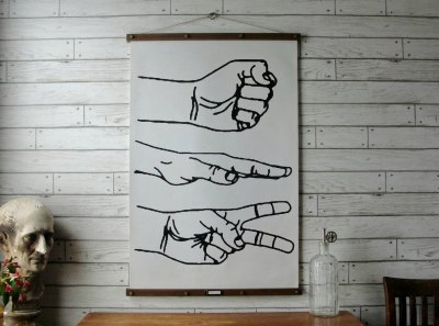 Rock Paper Scissors Poster by Gritty City Goods | via Fox & Brie