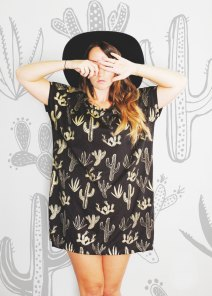 Golden Cactus Tunic by Simka Soul | via Fox & Brie