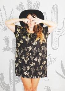 Golden Cactus Tunic by Simka Soul | via Fox & Brie